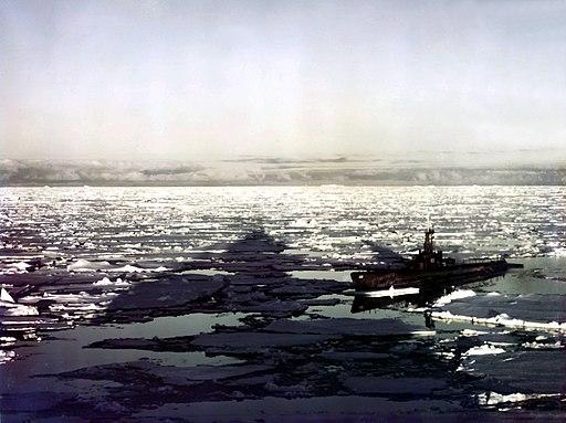 USS Sennet (SS-408) in Antartica 1947