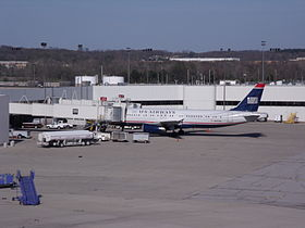 Airbus A320 della US Airways a Port Columbus