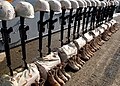 US Navy 030526-N-4048T-025 Memorial saluting 23 U.S. Marines assigned to 2d MEB killed in action during Operation Iraqi Freedom.jpg