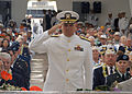 US Navy 031207-N-5024R-044 Rear Adm. John Costas represents the U.S. Navy during a wreath laying ceremony at the 62nd Pearl Harbor Anniversary ceremony of the attack on Pearl Harbor.jpg