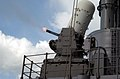 US Navy 040125-N-9288T-032 The guided missile cruiser USS Vincennes (CG 49) fires a Close In Weapons System (CIWS) while under way in the Pacific Ocean.jpg
