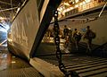 US Navy 060526-N-3286A-027 Dutch personnel board a Landing Craft Utility (LCU) aboard the amphibious assault ship USS Bataan (LHD 5) to perform exercises for the Joint Caribbean Lion 2006.jpg