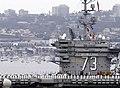 US Navy 080821-N-4163T-002 Sailors man the rails of the aircraft carrier USS George Washington (CVN 73) as it departs Naval Air Station North Island.jpg