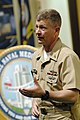 US Navy 090325-N-9818V-128 Master Chief Petty Officer of the Navy (MCPON) Rick West addresses the chief petty officers stationed at National Naval Medical Center Bethesda.jpg