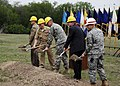US Navy 090506-N-2038H-002 Senior military and civilian leaders break ground at the site of the new Tri-Service Research Laboratory at Fort Sam Houston.jpg