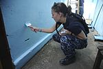 US Navy 100824-N-9964S-045 Ensign Becky Dickey helps paint a wall as part of a community relations project in Costa Rica.jpg