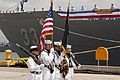 US Navy 110421-N-BT887-020 A U.S. Navy color guard parades the colors during the decommissioning ceremony of the guided-missile frigate USS Jarret.jpg
