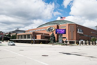 UW–Milwaukee Panther Arena - Exterior of venue in 2018.