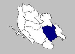 The Udbina municipality within Lika-Senj County