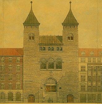 Elijah's Church - Detail from one of Nyrop's renderings