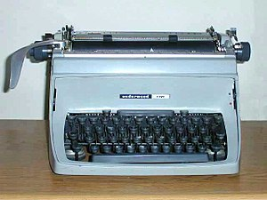 Quotation mark - A typewriter.