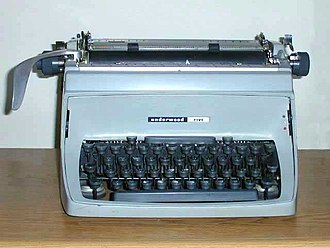 Typewriter - Mechanical desktop typewriters, such as this Underwood Touchmaster Five, were long-time standards of government agencies, newsrooms, and offices
