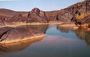 Guelta - A guelta, close to Oubankort in Adrar des Ifoghas.