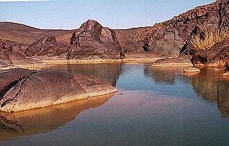 Azawad - A guelta in Adrar des Ifoghas