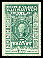 United States 1917 $5.00 War Savings Issue, Rouletted.jpg