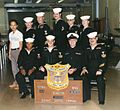 United States Navy opticalman rating class graduation, October 1983.jpg