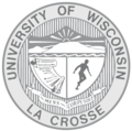 University of Wisconsin-La Crosse Shield - Black and White.png