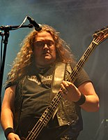 Unleashed, Johnny Hedlund at Party.San Metal Open Air 2013 07.jpg