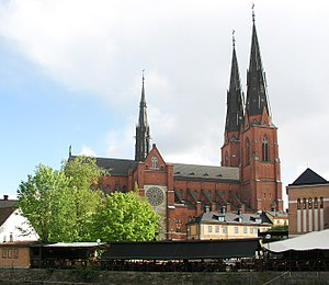 Archbishop of Uppsala - Uppsala Cathedral, seat of the Archbishop of Uppsala.