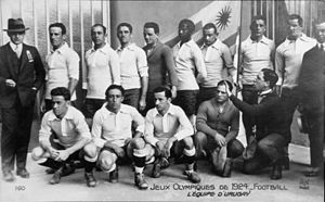 Football at the 1924 Summer Olympics - The Uruguayan team that won its first Gold Medal.