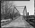 VIEW OF BRIDGE, LOOKING EAST FROM WEST APPROACH - Delray Bridge, Spanning Spring Creek, Delrey, Iroquois County, IL HAER ILL,38-DEL,1-3.tif