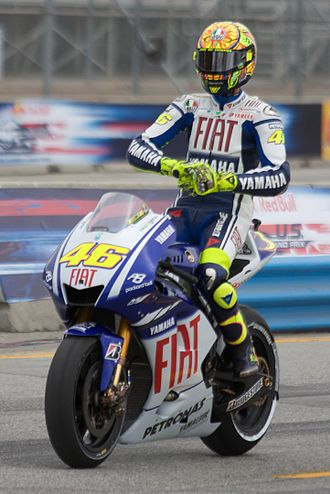 Grand Prix motorcycle racing - Valentino Rossi at MotoGP Laguna Seca