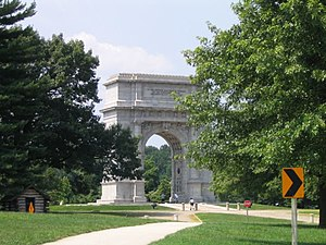 National Memorial Arch - The National Memorial Arch is Revolutionary War memorial at Valley Forge.