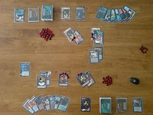 Vampire: The Eternal Struggle - Sample setup of a two-player game.