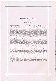 Vanity Fair Imprimir texto 1875 editores