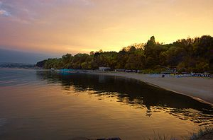 Varna beach at sunset