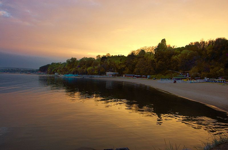 Varna beach at sunset