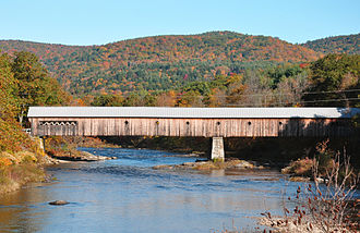 Covered bridge - Image: Vermont fall covered bridge 2009