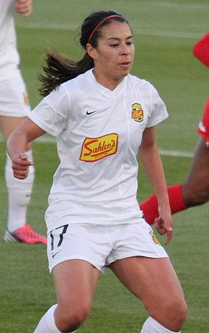 Verónica Pérez - Pérez playing for Western New York Flash in 2013