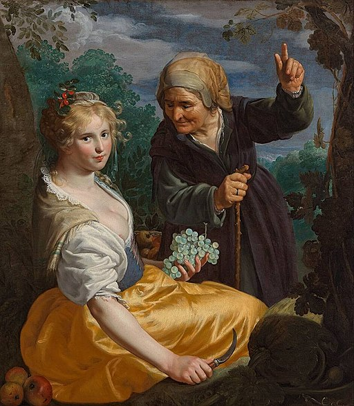 Vertumnus and Pomona 1630 Paulus Moreelse
