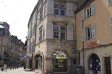 Vesoul Maison Barberousse - Vesoul (Везуль), регион Франш-Конте, Франция - достопримечательности, путеводитель по городу. Карта, транспорт, схемы маршрутов, билеты, что посмотреть в Везуле, как добраться в Везуль, города Франции, путеводитель по Франции, окрестности Безансона, что посмотреть вокруг Безансона, достопримечательности Франции, транспорт по Франш-Конте