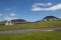 Vestmannaeyjar, Eldfell, Helgafell and the cemetery.jpg