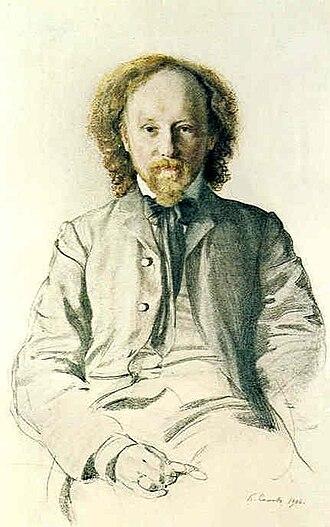 Vyacheslav Ivanov (poet) - Portrait by Konstantin Somov (1906).