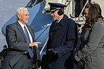 Vice President-elect Mike Pence arrives at Joint Base Andrews 03.jpg
