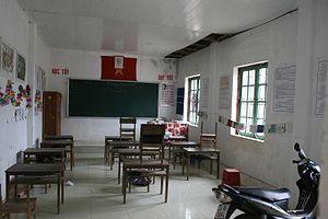 Women in Vietnam - School classroom in the rural district of Tam Đường