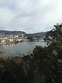 View of Kisogawa River and Inuyamabashi Bridge from Tenshu of Inuyama Castle 2.jpg