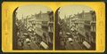 View of Washington Street showing trolley traffic, from Robert N. Dennis collection of stereoscopic views.png