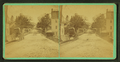 View of a residential street with houses and a buggy, by William M. Lombard.png