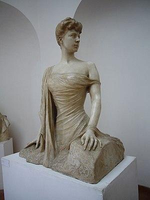 Franca Florio - Pietro Canonica, sculpture of Franca Florio. Villa Borghese, Rome.