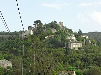 Brunet, Alpes-de-Haute-Provence - The village of Brunet, seen from the north