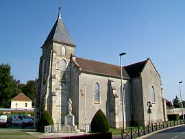 The church of Saint-Germain-d'Auxerre, in Villeron