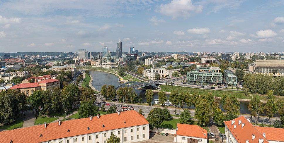 Daylight panorama of the city of Vilnius