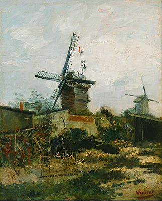 Le Moulin de Blute-Fin (1886) from the Le Moulin de la Galette and Montmartre series'. Bridgestone Museum of Art, Tokyo (F273)