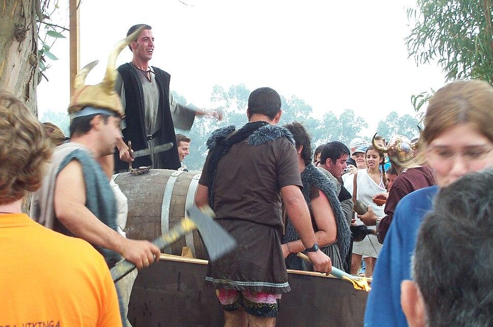 Viquingos na festa Viquinga de Catoira