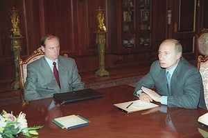 Federal Security Service - President Putin meeting with Director of FSB Nikolai Patrushev on 9 August 2000