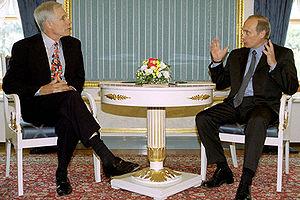 Ted Turner - Turner with Vladimir Putin